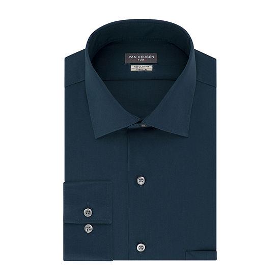 Van Heusen Flex Stretch Mens Spread Collar Long Sleeve Stretch Dress Shirt - Big and Tall