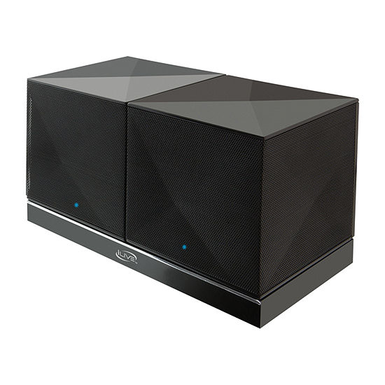 iLive ISB614B Rechargeable Bluetooth Speakers with Charging Station