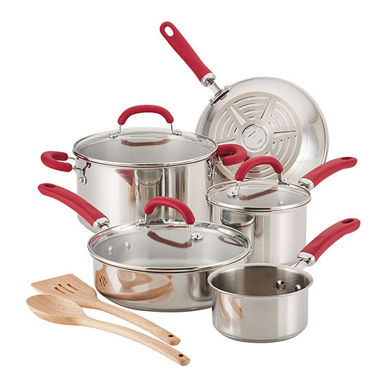 Rachael Ray Create Delicious 10-Pc. Cookware Set
