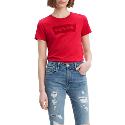 Levi's-Womens Crew Neck Short Sleeve T-Shirt