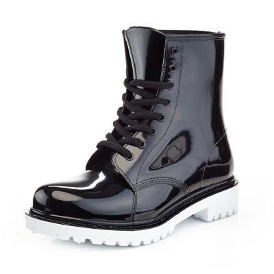 Henry Ferrera Womens Academy Rain Boots Water Resistant Flat Heel Pull-on