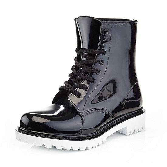 Henry Ferrera Womens Academy Rain Boots Water Resistant Flat Heel