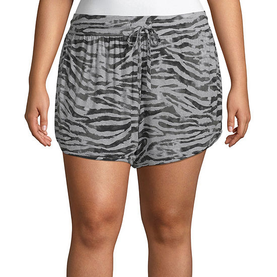 Ambrielle Pajama Shorts Womens - Plus