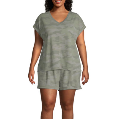 Ambrielle V Neck Pajama Top Womens - Plus