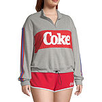Womens Mock Neck Long Sleeve Sweatshirt Juniors Plus