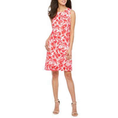 Ronni Nicole Sleeveless Floral Shift Dress