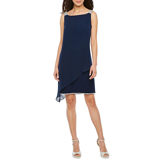 MSK Sleeveless Embellished Shift Dress