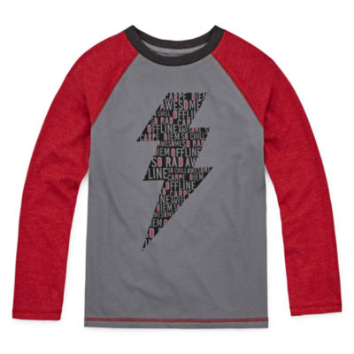 Arizona Boys Crew Neck Long Sleeve Graphic T-Shirt