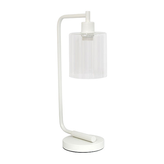 Industrial Iron Lantern Lamp Wht Iron Table Lamp