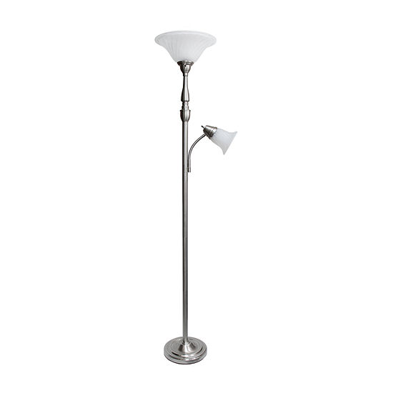 2 Lt Mother Daughter Lamp Bsn Iron Floor Lamp