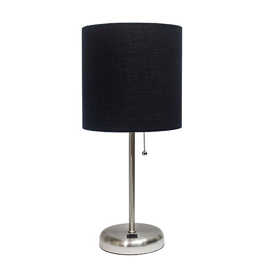 Stick Lamp With Usb Port Blk Iron Table Lamp