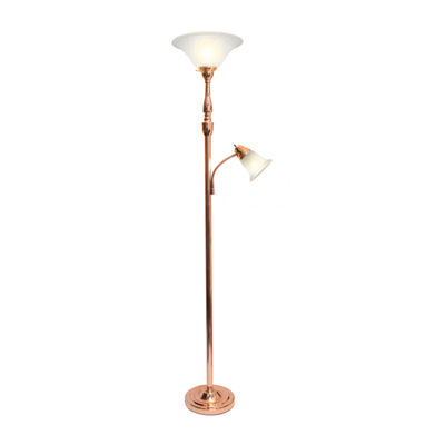 2 Lt Mother Daughter Lamp Rgd Iron Floor Lamp