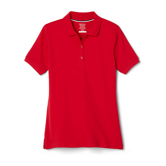 715d9c7e French Toast Short Sleeve Interlock Polo With Picot Collar - Big Kid Girls  Plus - JCPenney