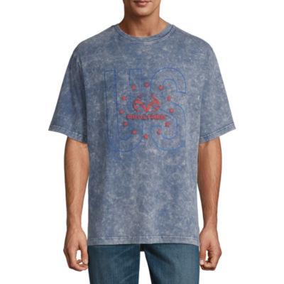 Realtree Americana Mens Crew Neck Short Sleeve T-Shirt