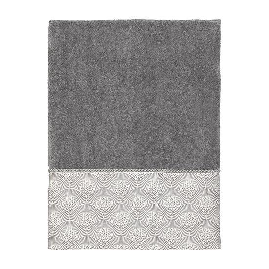 Avanti Deco Shell Nickel Embroidered Bordered Bath Towel