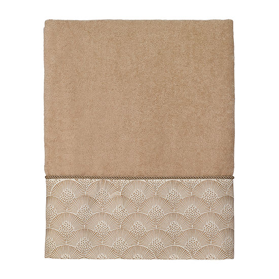 Avanti Deco Shell Rattan Embroidered Bordered Bath Towel