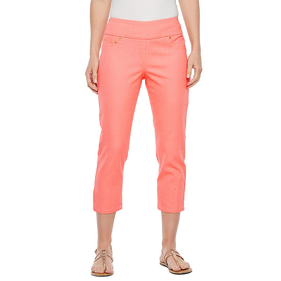 Hearts Of Palm Blush Strokes High Waisted Capris
