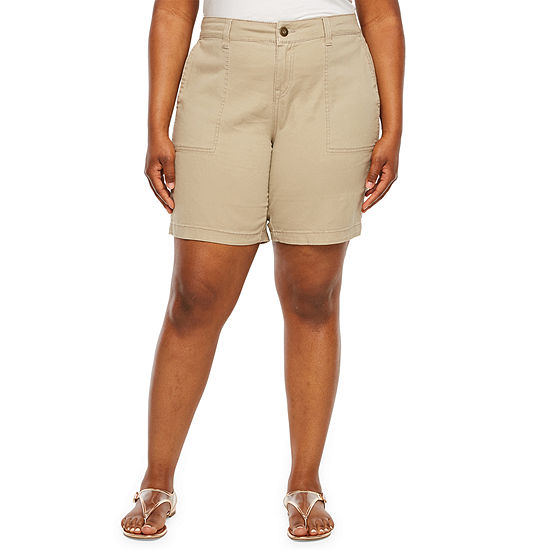 "Supplies by UNIONBAY Womens Stretch 9"" Midi Short - Plus"