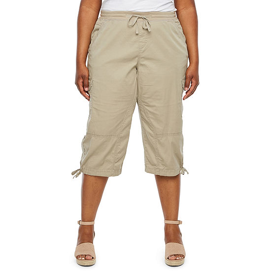 Supplies by UNIONBAY Drawstring Waist Convertible Skimmer Pants - Plus