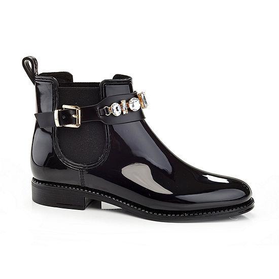 Henry Ferrera Womens Marsala Rain Boots Flat Heel