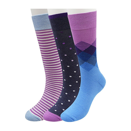 Collection by Michael Strahan  Mens 3 Pair Crew Socks