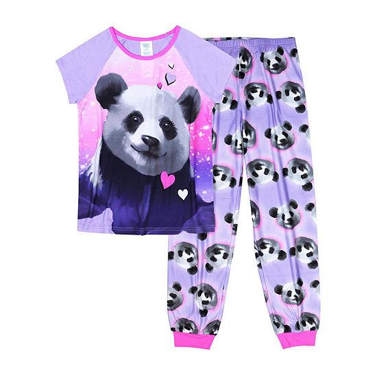 Jelli Fish Kids 2-pc. Pant Pajama Set Panda