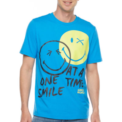 Smiley World Mens Crew Neck Short Sleeve Graphic T-Shirt
