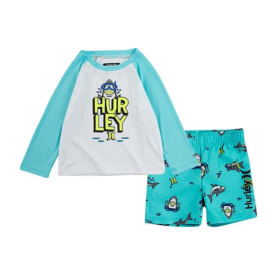Hurley Toddler Boys Trunk Set