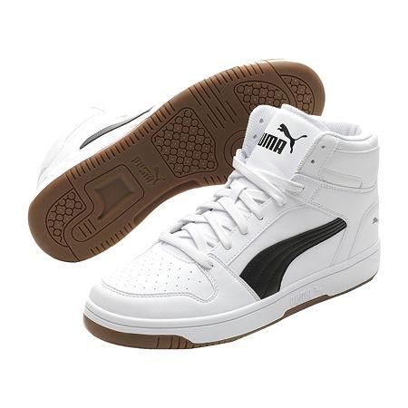 Mens Vintage Shoes, Boots | Retro Shoes & Boots Puma Rebound Layup Sl Mens Basketball Shoes 10 Medium White $59.99 AT vintagedancer.com