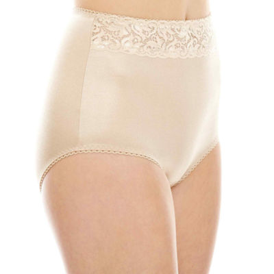 Underscore Rainbow Stretch Satin Lace Trim Control Briefs 123-3901