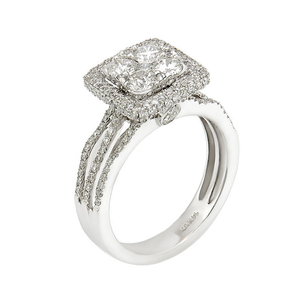 LIMITED QUANTITIES 1 1/2 CT. T.W. Diamond 14K White Gold Bridal Ring