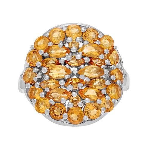Genuine Citrine Sterling Silver Ring