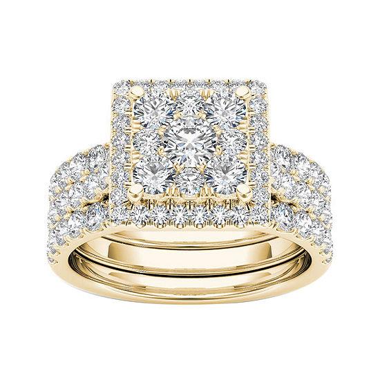 2 CT. T.W. Diamond 10K Yellow Gold Bridal Set