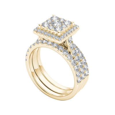 2 CT. T.W. Diamond 10K Yellow Gold Bridal Set