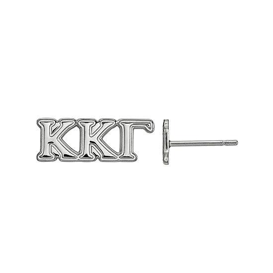 Personalized Sterling Silver Sorority Stud Earrings