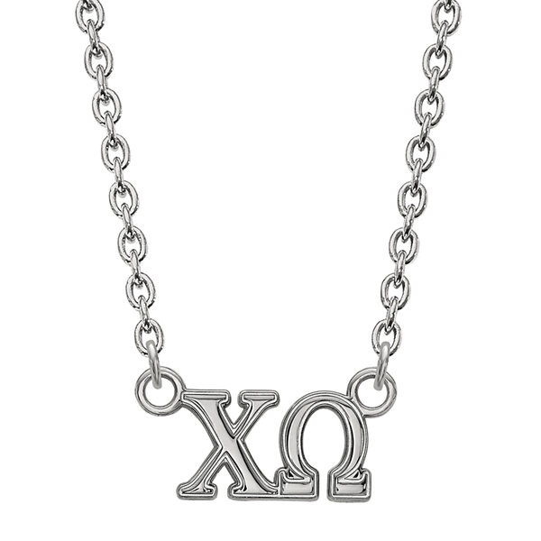 Personalized Sterling Silver Medium Sorority Necklace