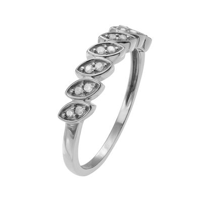 1/6 CT. T.W. Diamond Sterling Silver Ring