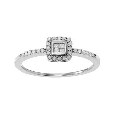 1/3 CT. T.W. Diamond Sterling Silver Ring