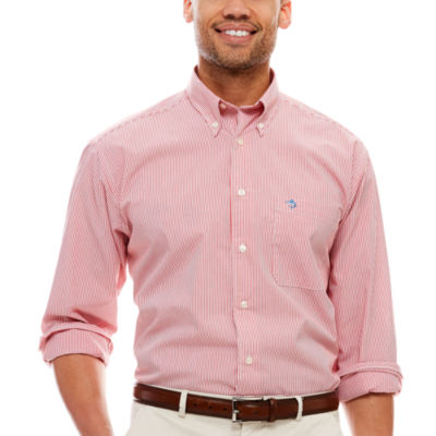 Biscayne Bay Long-Sleeve Striped Button-Down Shirt