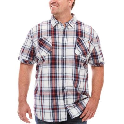 i jeans by Buffalo Maty Short-Sleeve Woven Plaid Shirt - Big & Tall