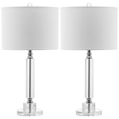 Safavieh Drake Column Crystal Lamp- Set of 2