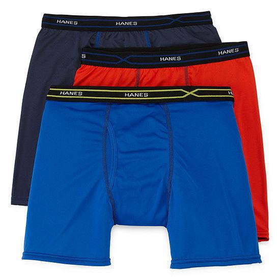 751497d0ddfa Hanes Men's X-Temp® Performance FreshIQ™ Boxer Brief 3-Pack - JCPenney