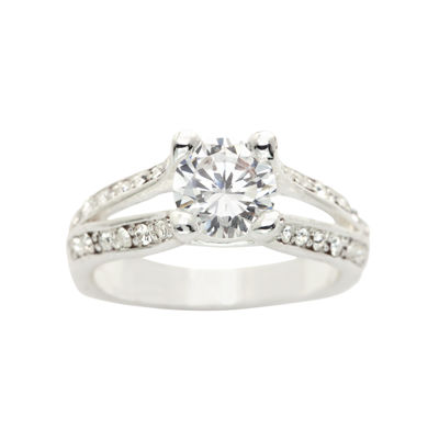 Sparkle Allure Womens White Engagement Ring