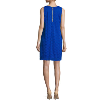 Ronni Nicole Sleeveless Lace A-Line Dress-Petites