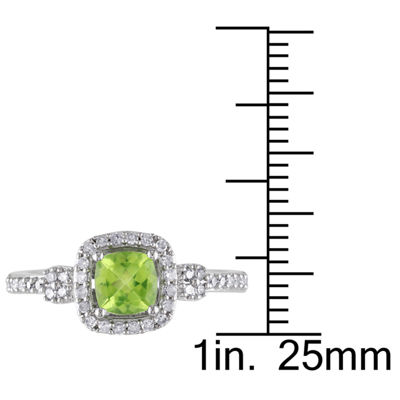 Womens 1/6 CT. T.W. Green Peridot 10K Gold Cocktail Ring