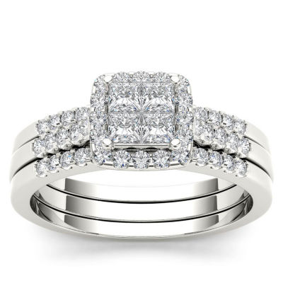 Womens 3/4 CT. T.W. Genuine White Diamond 10K Gold Bridal Set