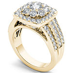 Womens 2 CT. T.W. Genuine White Diamond 14K Gold Engagement Ring