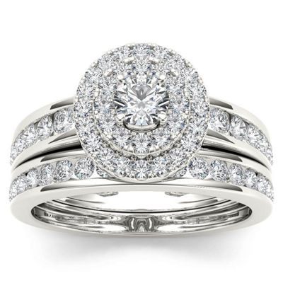 Womens 1 CT. T.W. White Diamond 10K Gold Bridal Set