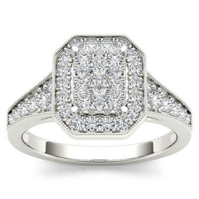 Womens 5/8 CT. T.W. Genuine White Diamond 10K Gold Engagement Ring