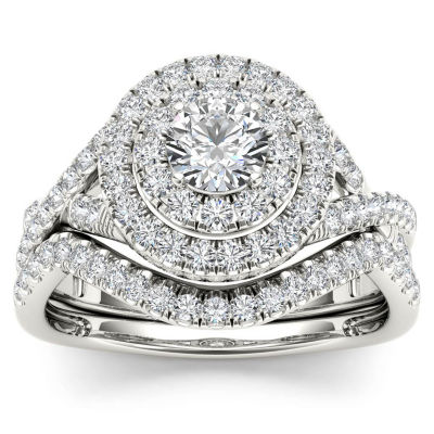 Womens 3/4 CT. T.W. White Diamond 10K Gold Bridal Set